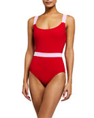 Karla Colletto Giselle Scoop-Neck Tank One-Piece Swimsuit