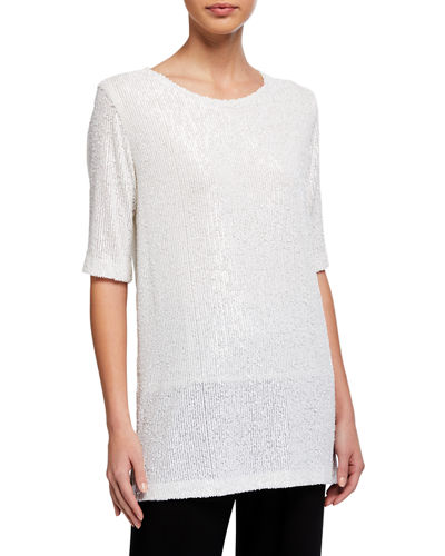 Classic Sequin Knit Easy Tee