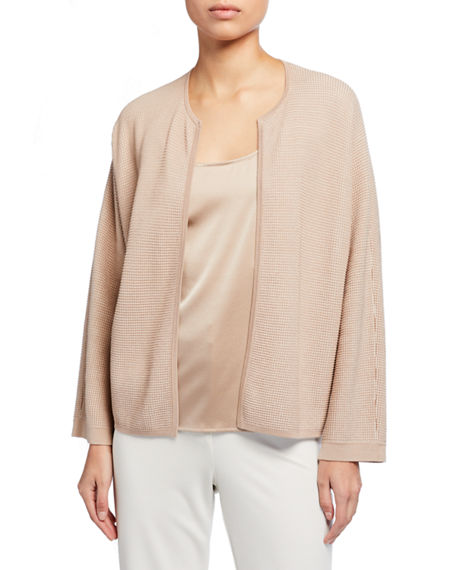 Eileen Fisher Silk/Organic Cotton Open Cardigan