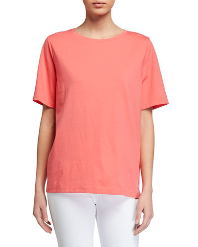 Organic Cotton Jersey Short-Sleeve Crewneck Tee