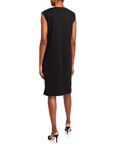 Image 2 of 2: Eileen Fisher V-Neck Sleeveless Flex Ponte Dress