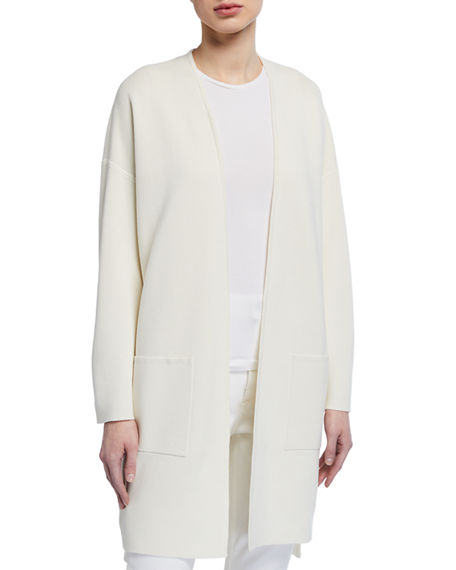 Eileen Fisher Silk/Organic Cotton Interlock Long Cardigan