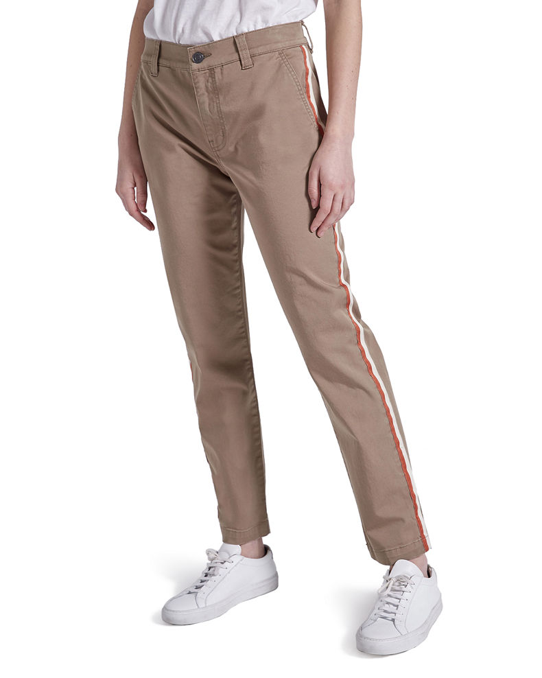 Current/Elliott The Side Stripe Confidant Chino Pants