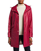 kate spade new york matte water-resistant raincoat