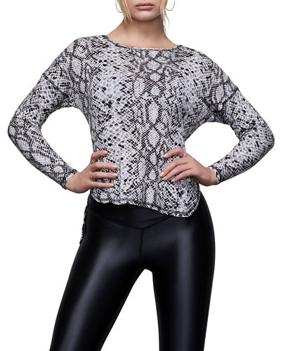 Criss Cross Back Long-Sleeve Active Top - Inclusive Sizing