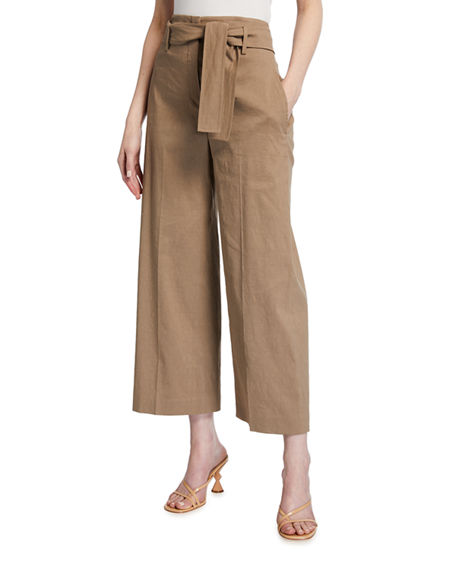 Image 1 of 3: Theory Eco Crunch Cropped Belted Pants