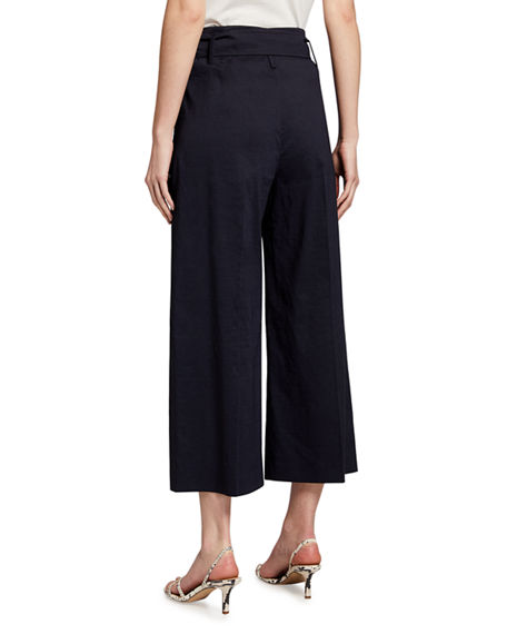 Image 2 of 3: Theory Eco Crunch Cropped Belted Pants
