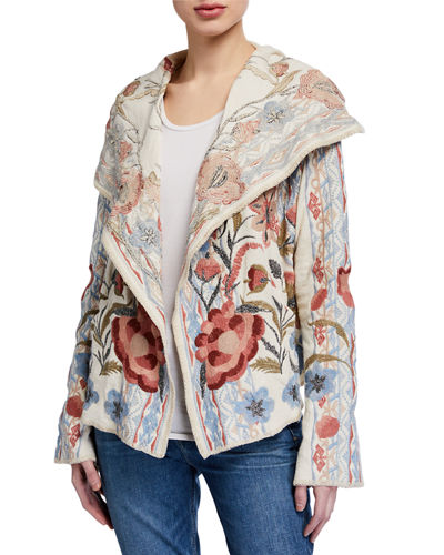Syelles Embroidered Short Hoodie Jacket