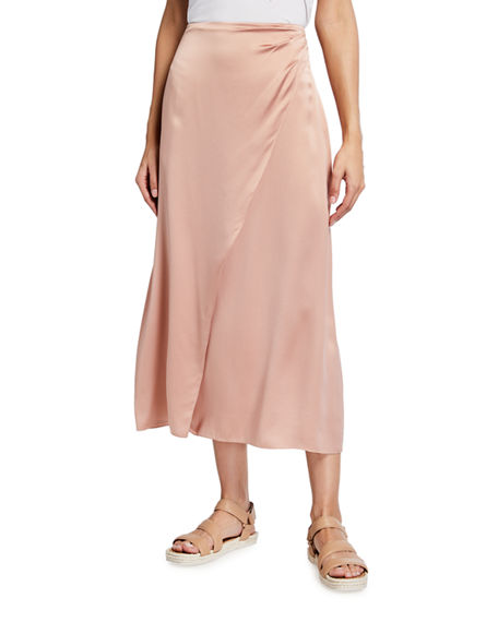 Vince Side Pleat Wrap Skirt