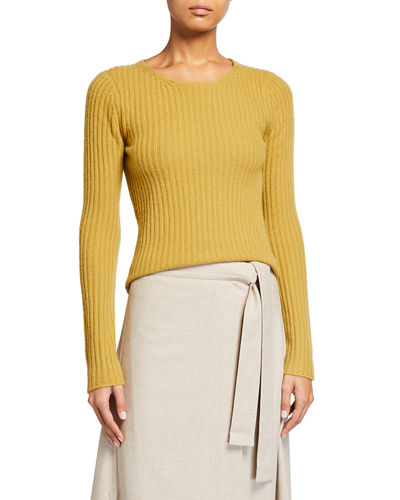Fitted Ribbed Sweater | Neiman Marcus