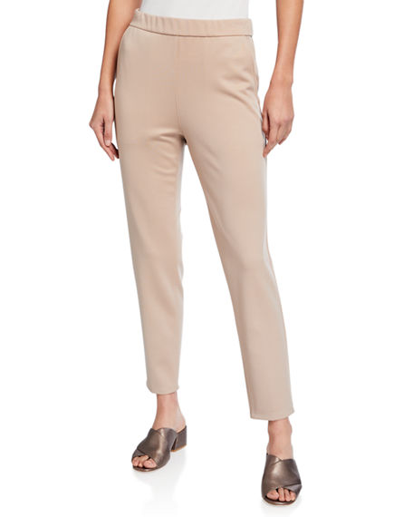 Eileen Fisher Plus Size Flex Lyocell Ponte Slouchy Ankle Pants