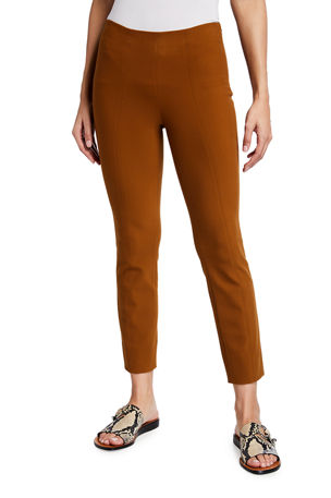 Vince Stitched Front-Seam Ankle Leggings