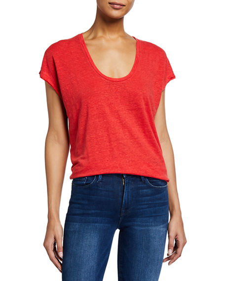 FRAME Easy Scoop-Neck Tee