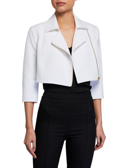 Toccin Cropped Moto Jacket