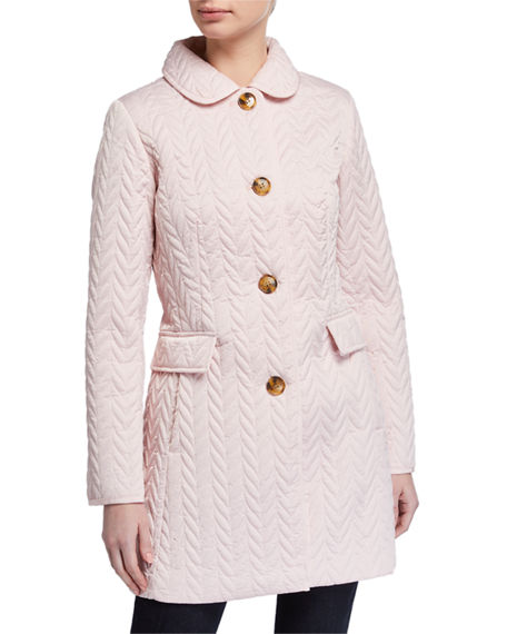kate spade new york single-breasted quilt jacket