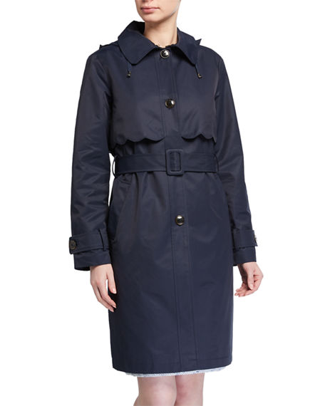 kate spade new york single-breasted belted trench coat