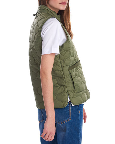 Image 2 of 5: Barbour Lola Quilted Snap-Front Gilet