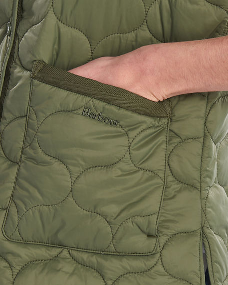 Image 4 of 5: Barbour Lola Quilted Snap-Front Gilet