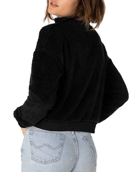 Image 2 of 4: Beyond Yoga Cropped Sherpa Pullover