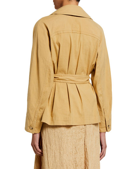 Image 2 of 2: Vince Belted Drapey Linen Jacket
