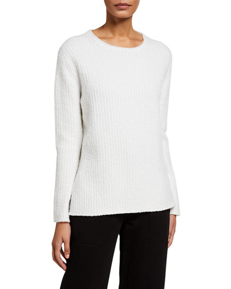 Vince Rib Textured Cotton-Blend Sweater