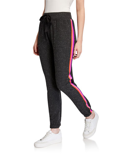 Lisa Todd Speckled Side Stripe French Terry Jogger Pants