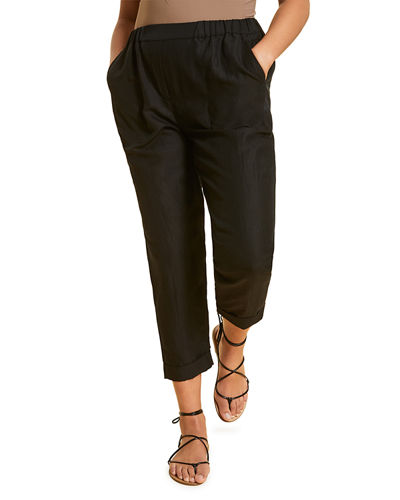 Plus Size Rebecca Cropped Pull-On Pants