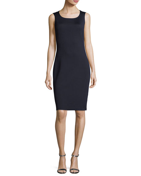 Image 1 of 4: St. John Collection Sleeveless Mid-Length Dress