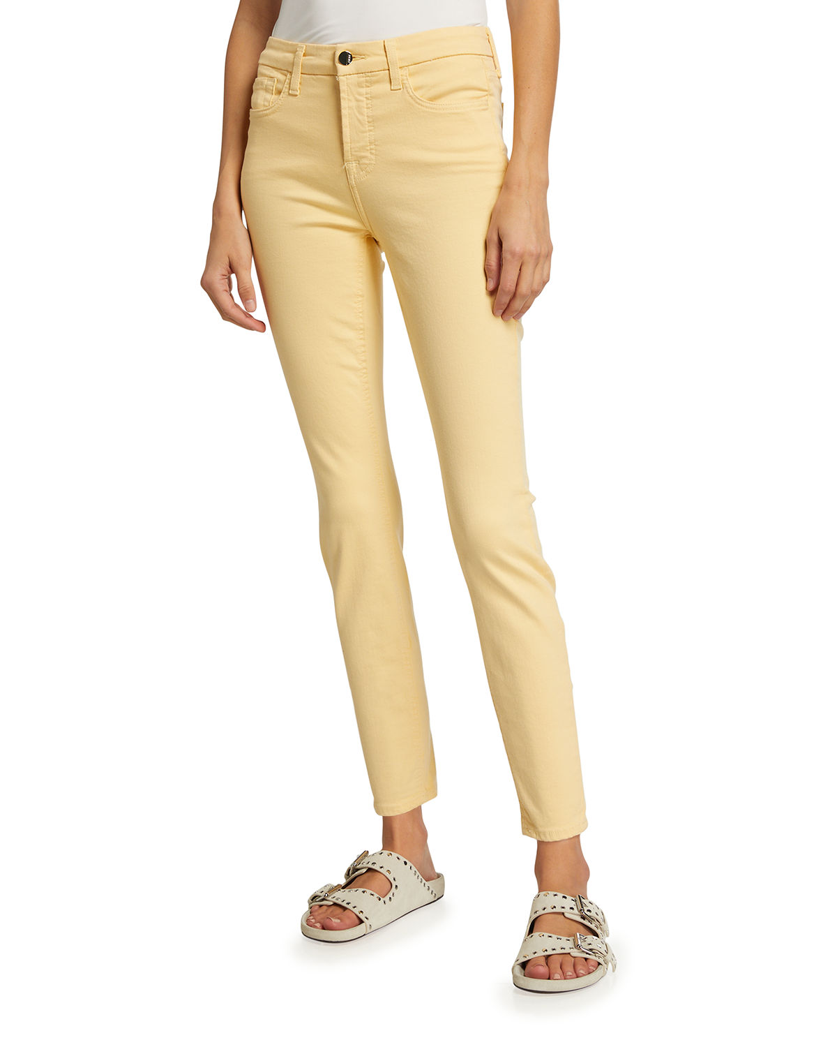 Skinny Ankle High-Rise Colored Pants