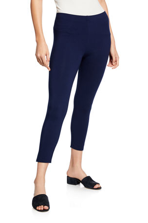 Joan Vass Petite Ankle Length Pull-On Leggings