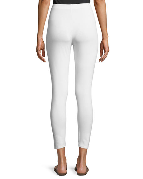 Image 2 of 3: Joan Vass Plus Size Ankle Length Pull-On Leggings