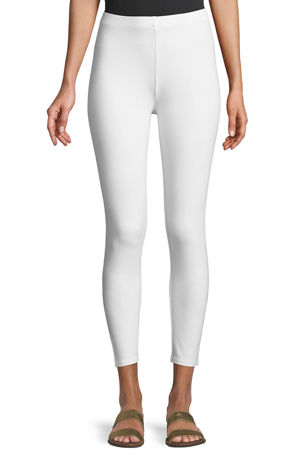Joan Vass Plus Size Ankle Length Pull-On Leggings