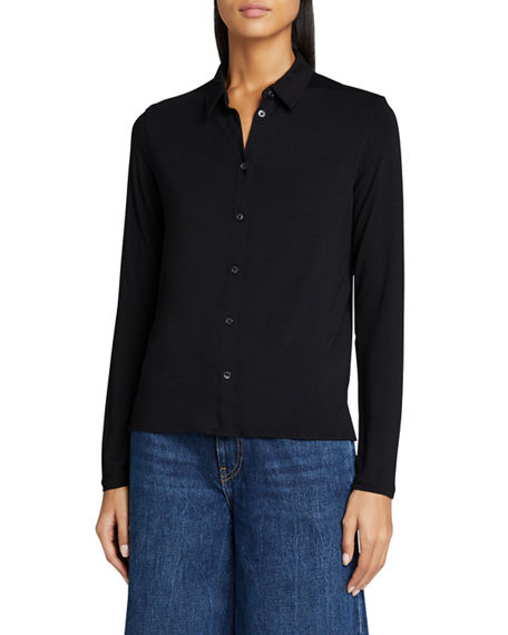 Image 3 of 5: Majestic Filatures Soft Touch Boxy Button-Down Shirt