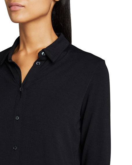 Image 4 of 5: Majestic Filatures Soft Touch Boxy Button-Down Shirt