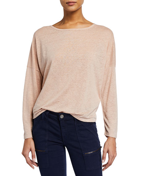 Joie Darlina Long Sleeve Linen Tee