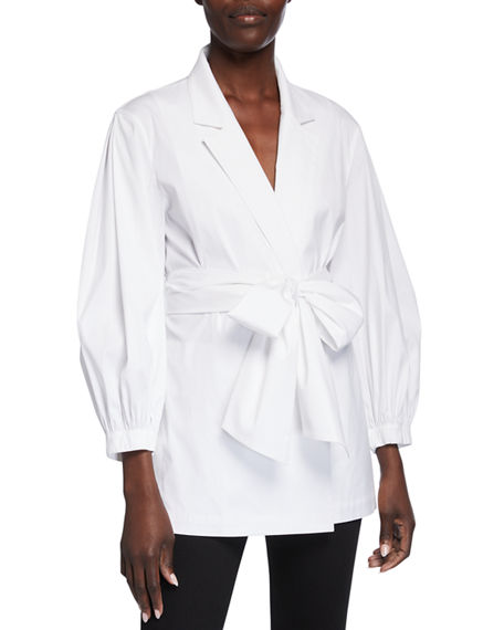 Lafayette 148 New York Wexler Belted Stretch Cotton Jacket