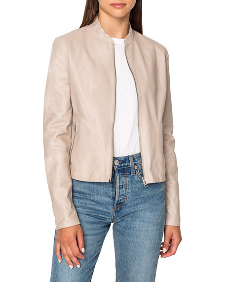 LaMarque Chapin Reversible Patent Leather Bomber Jacket