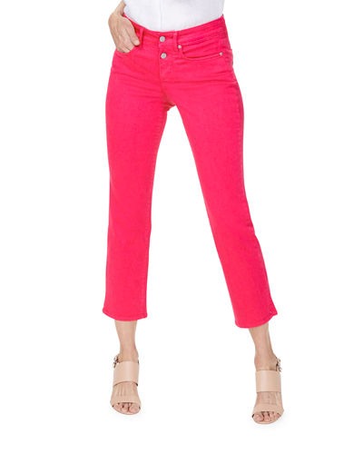 Marilyn Straight Ankle Jeans w/ Mock Fly