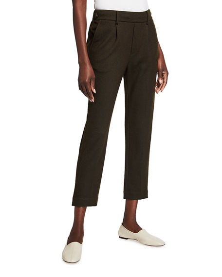Vince Cozy Wool-Blend Pull-On Pants