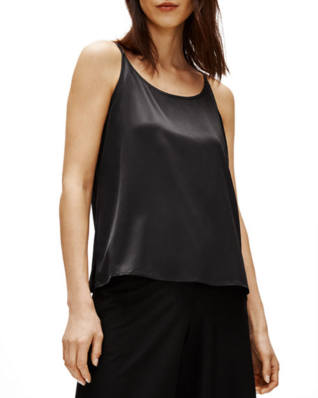 Eileen Fisher Plus Size Stretch Silk Charmeuse Cami