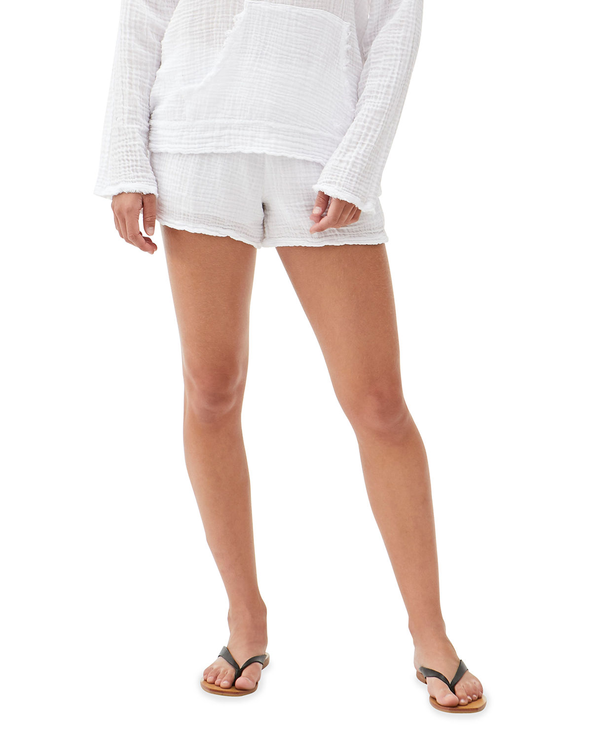 Peggy Smocked Waist Solid Shorts