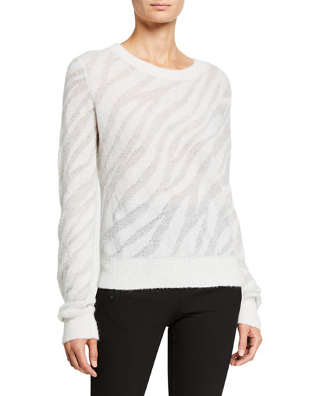 Rag & Bone Germain Zebra Crewneck Sweater