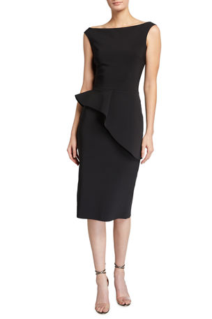 Chiara Boni La Petite Robe Rudina Stretch Jersey Peplum Dress