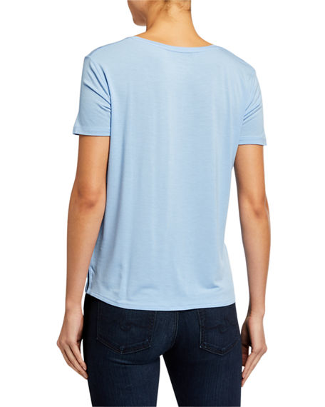 Image 2 of 2: Majestic Filatures V-Neck Short-Sleeve Relaxed Tee