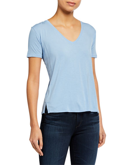 Image 1 of 2: Majestic Filatures V-Neck Short-Sleeve Relaxed Tee