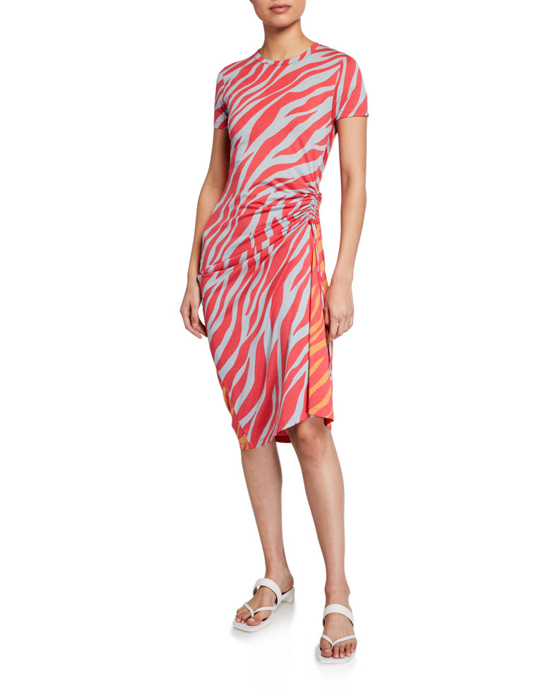 Rag & Bone Ina Tiger-Stripe Midi Dress