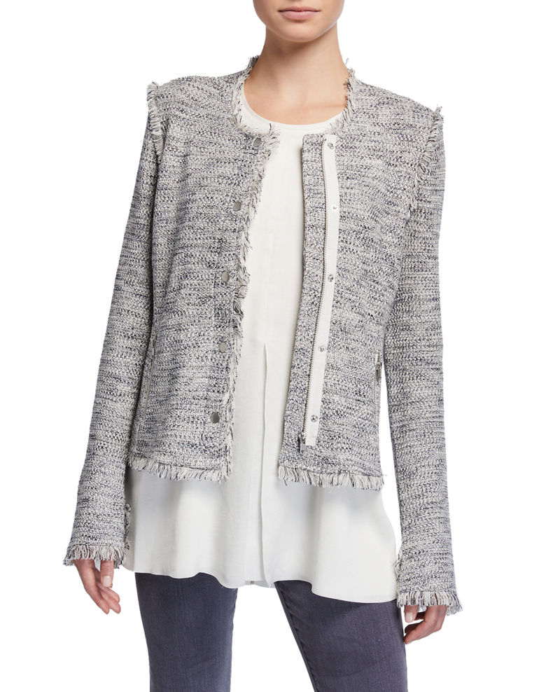 NIC+ZOE Petite You Deserve It Fringe Detail Jacket
