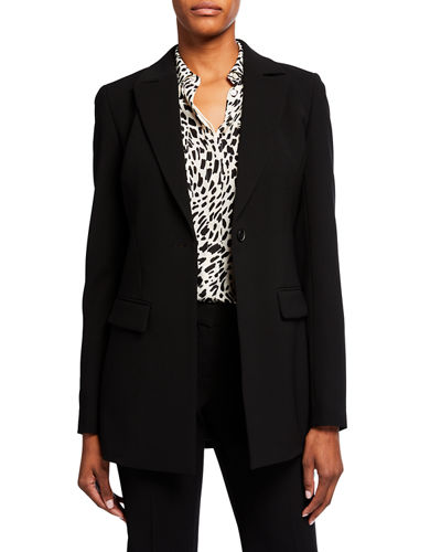 Frey One-Button Crepe Jacket
