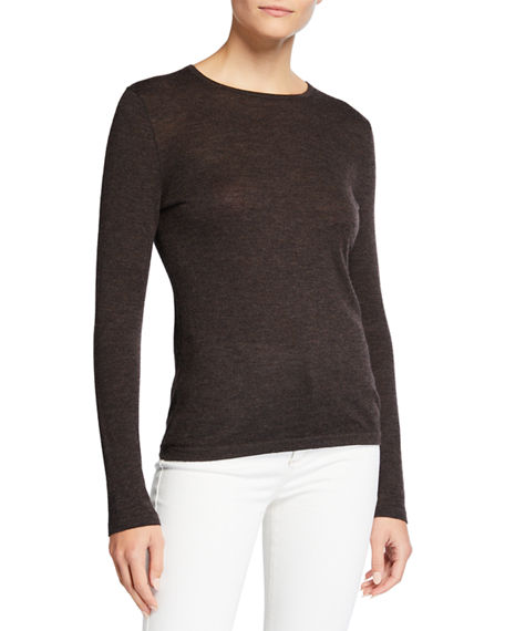 Neiman Marcus Cashmere Collection Superfine Cashmere Crewneck Sweater