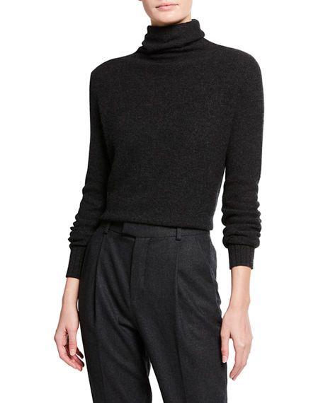 Neiman Marcus Cashmere Collection Cashmere Honeycomb Turtleneck Sweater